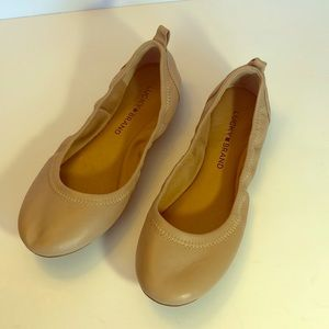 Lucky Brand Eleesia Leather Ballet Flats, 6 - NWOT